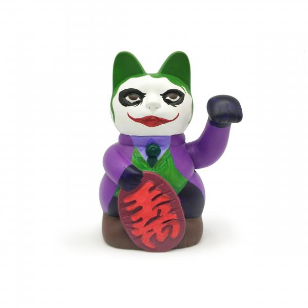 maneki neko pintado a mano Joker