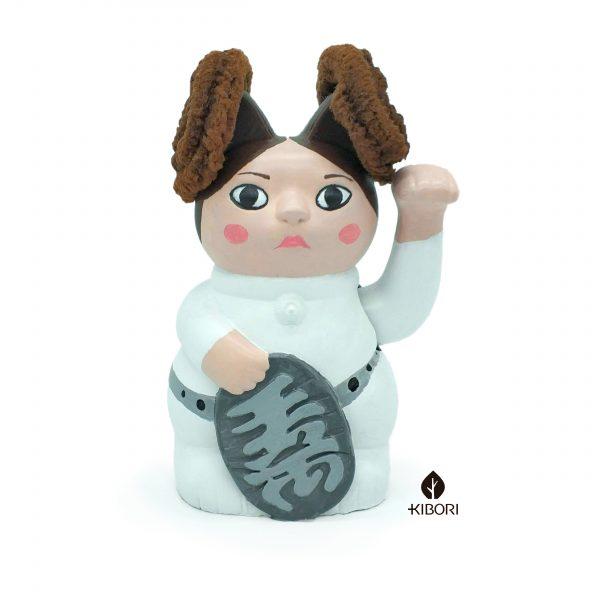 manneki neko pintado a mano como leia