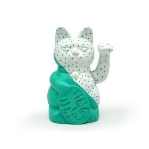 Kiborineko, gato de la suerte diseño dots