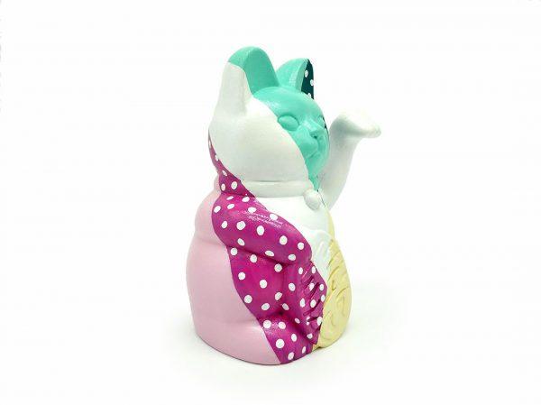 Kiborineko, gato de la suerte diseño colección geometric