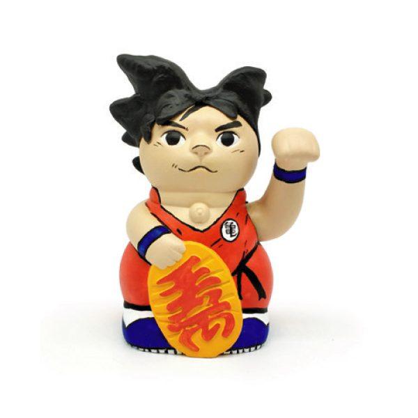 Kiborineko, gato de la suerte caracterizado como Goku de Dragonball