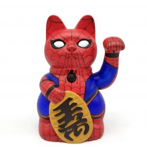 Kibori Maneki Neko Spiderman