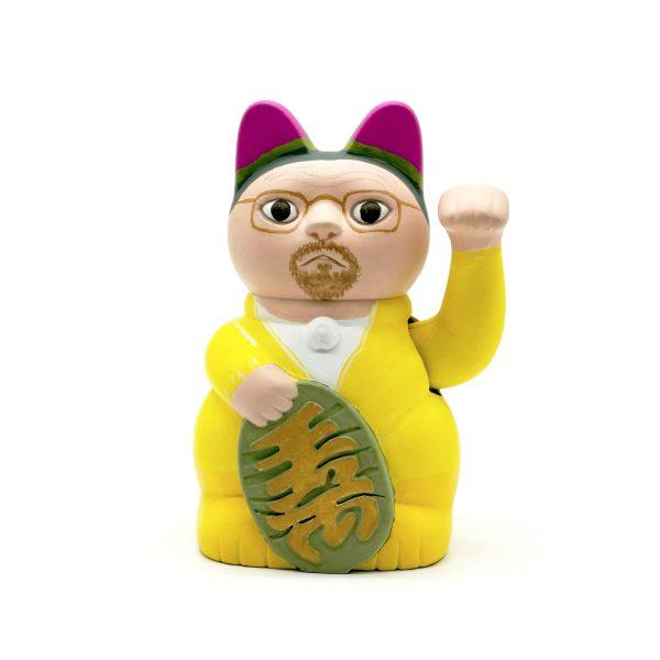 Kiborineko, gato de la suerte caracterizado como Walter White